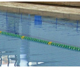 CORSIA GALLEGGIANTE EASY LANE VERDE DIAMETRO 85mm PER PISCINE 25 M