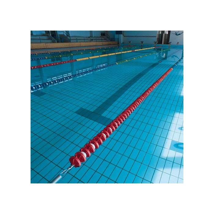 CORSIA GALLEGGIANTE EASY LANE ROSSO DIAMETRO 85mm PER PISCINE 50 M
