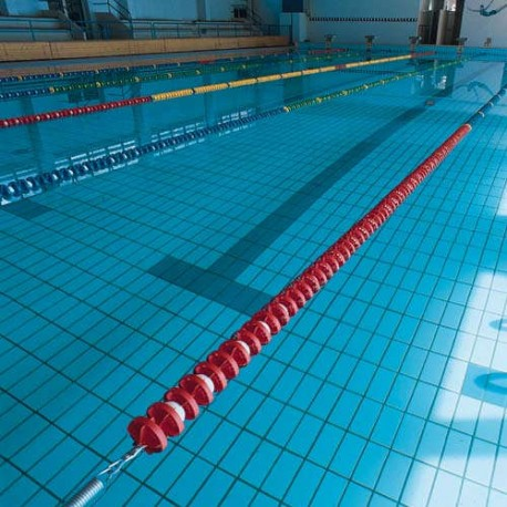 CORSIA GALLEGGIANTE EASY LANE ROSSO DIAMETRO 85mm PER PISCINE 25 M