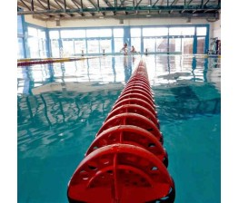 CORSIA GALLEGGIANTE SPEEDY POOL ROSSO DIAMETRO 120 mm PER PISCINE 25 M