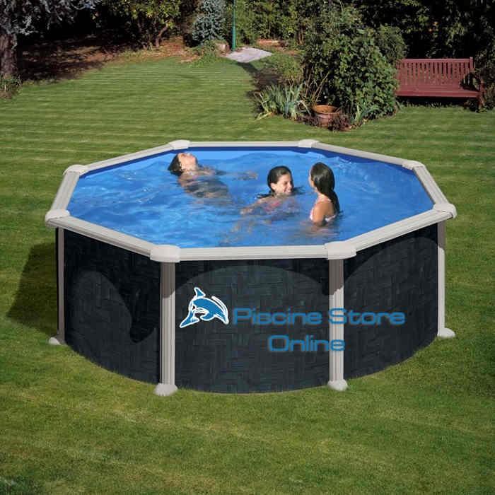 piscina fuoriterra rattan tonda diametro 3 5 m altezza mt On piscina 5 metros diametro