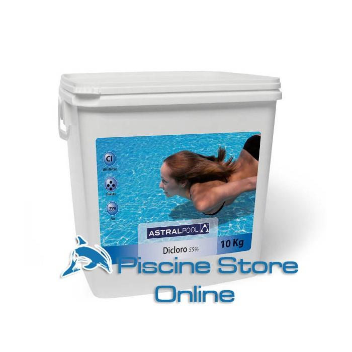 cloro per piscine - Dicloro granulare 55% astral 10 kg cloro granulare per il trattaemnto dell'acqua