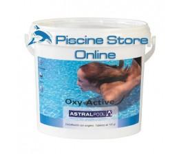 OXY-ACTIVE pastiglie da 100 gr ASTRAL kg.1 ossigeno attivo per trattamento acqua piscina