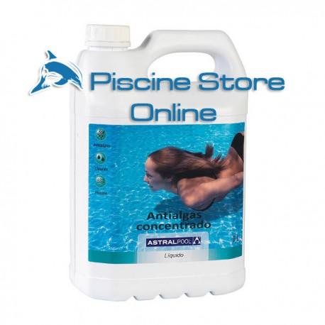Antialghe concentrato ASTRAL per il trattamento dell'acqua della piscina tanica 10 LT