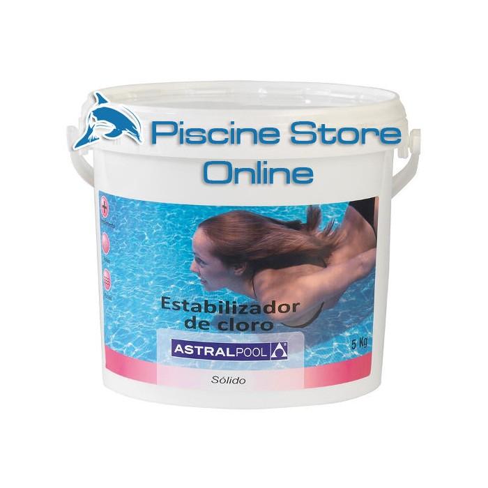cloro piscina - Stabilizzatore di cloro ASTRAL in polvere 5 kg trattamento acqua