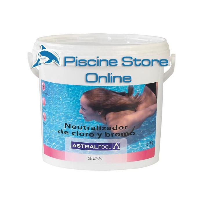 cloro piscina - Neutralizzatore di cloro e bromo ASTRAL in polvere secchio da 6 kg per il trattamento dell'acqua della piscina