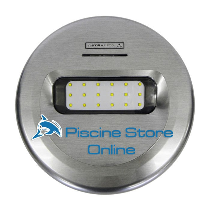 Faro per piscina Led LumiPlus Design effetto inox per piscine in liner