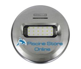 LAMPADA LED LUMIPLUS DESIGN EFFETTO INOX PURO PER PISCINA LUCE RGB