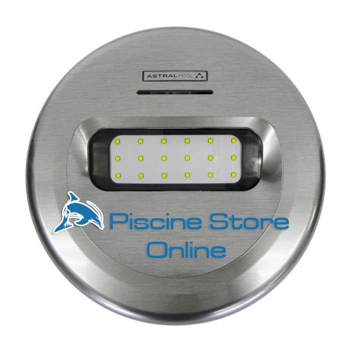 Lampada faro per piscina LED LUMIPLUS Design effetto INOX PURO luce RGB