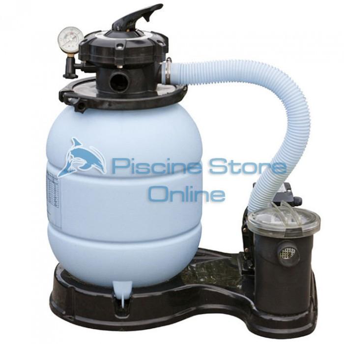 Monoblocco filtro a sabbia per piscina + pompa 4 MC/H FS300