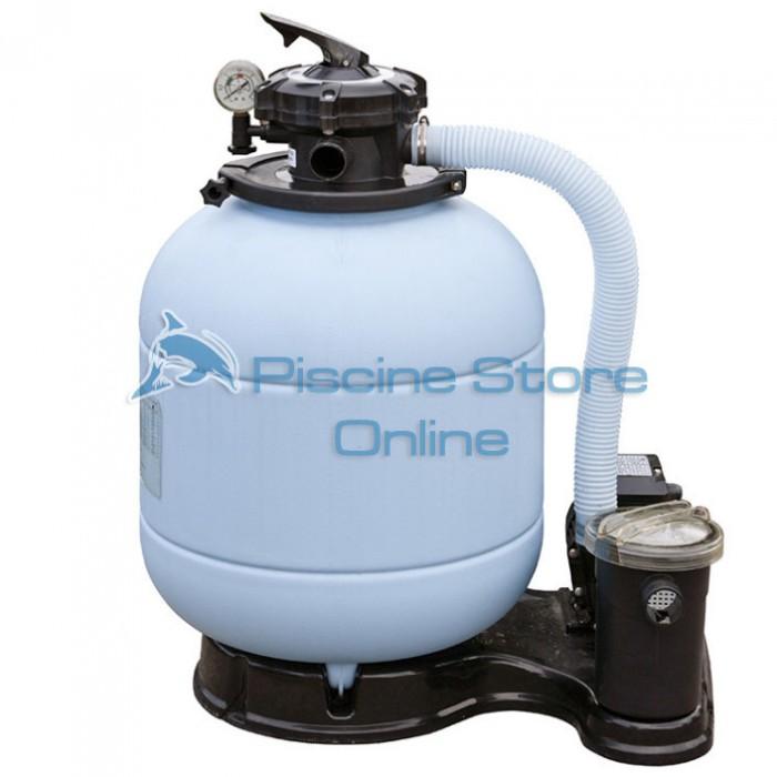 Monoblocco filtro a sabbia per piscina + pompa 6 MC/H FS400