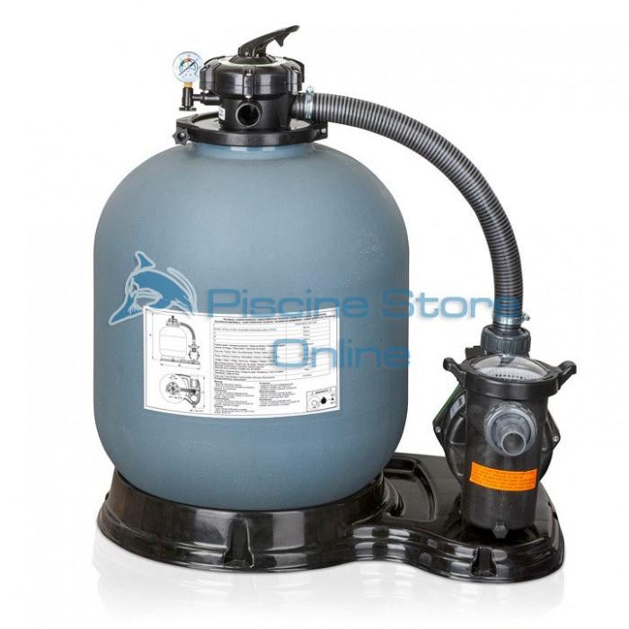 Monoblocco filtro a sabbia per piscina + pompa 8 MC/H FS500