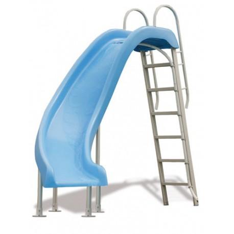 Scivoli per piscine azzurro Rogue scivolata a sinistra