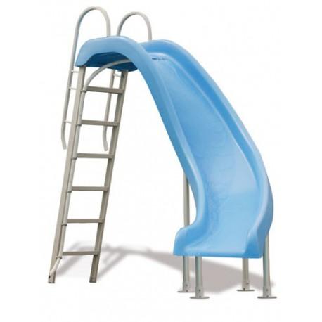 Scivolo per piscine azzurro Rogue scivolata a destra