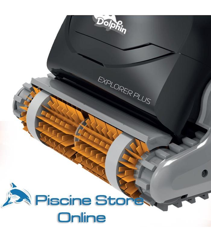 Coppia spazzole combinate in PVC di ricambio per robot Explorer Plus - ricambi dolphin piscina