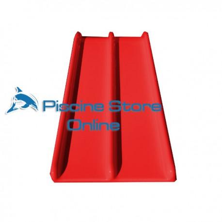 scivolo per piscina per bambini Pongo doppio rosso senza scala
