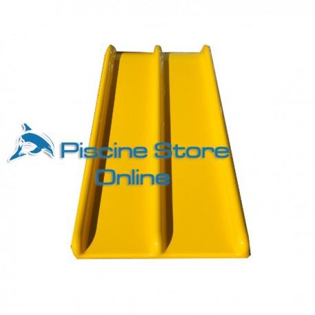 Scivolo per piscina per bambini Pongo doppio giallo senza scala