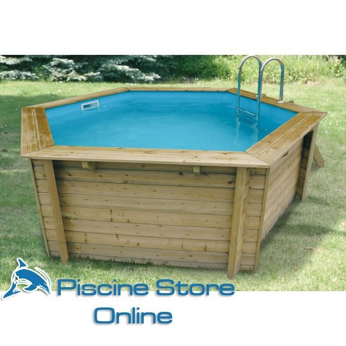 Piscina fuori terra in legno esagonale azura 4 10 m for Piscine one line