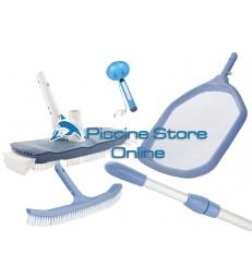 Kit pulizia K7 aspirafango ovale + retino di superficie e spazzola di fondo