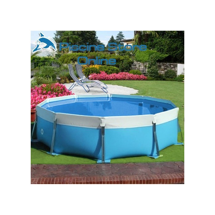 Vendita piscina fuoriterra autoportante smontabile tonda for Piscine portante