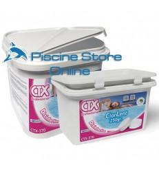 cloro per piscine CTX-370 KG. 5 Cloro per trattamento acqua piscina in pastiglie da GR. 250