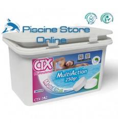 cloro per piscine - CTX-342 1 KG. multi action senza rame trattamento acqua piscina pastiglie da gr. 250