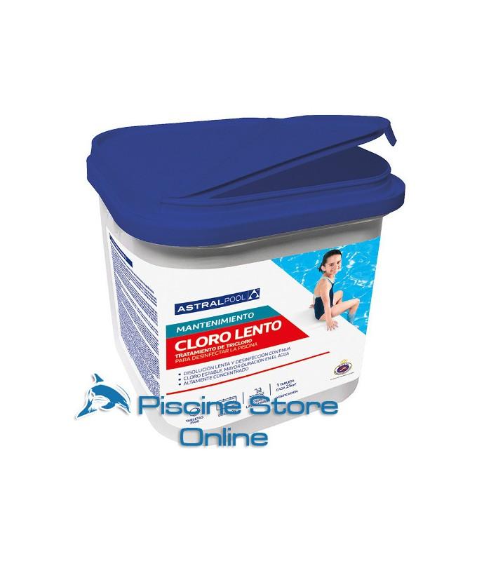 cloro per piscine - Tricloro in pastiglie da 250 gr astral kg 10 per il trattamento dell'acqua