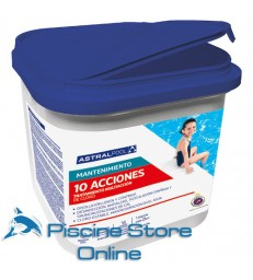 cloro piscina Multi-action 10 kg trattamento acqua piscina pastiglie da gr. 250