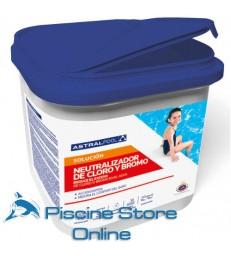 Neutralizzatore di cloro e bromo ASTRAL in polvere secchio da 6 kg per il trattamento dell'acqua della piscina
