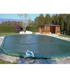 Copertura piscina ovale impermeabile COVER UP 210 GR con salamotti
