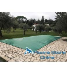Copertura piscina rettangolare impermeabile COVER UP 210 GR con occhielli e tiranti