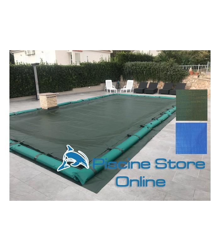 Copertura invernale piscina rettangolare impermeabile COVER UP 240 GR