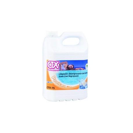 CTX-75 LT. 5 sgrassante liquido alcalino - prodotto di pulizia piscina