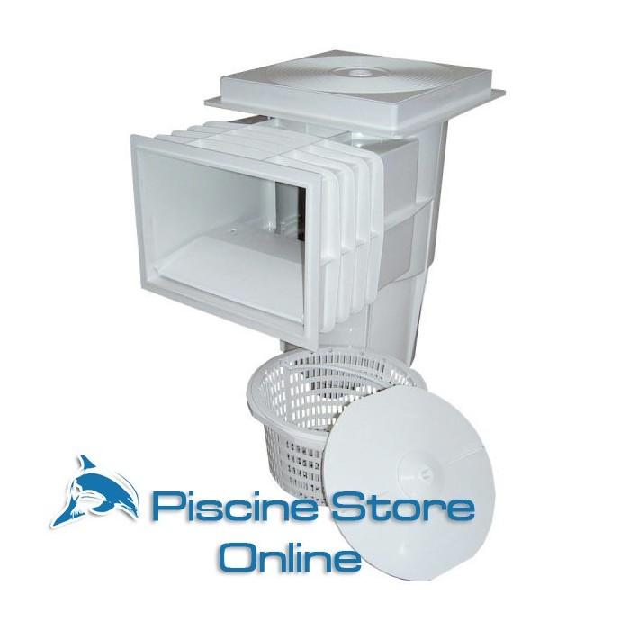 Skimmer ASTRAL bocca standard coperchio quadrato per piscine in cemento armato