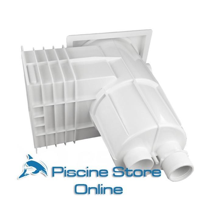Skimmer piscina astral bocca standard coperchio quadrato for Astral piscine