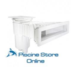 Skimmer ASTRAL sfioratore coperchio quadrato per piscina liner e prefabbricata