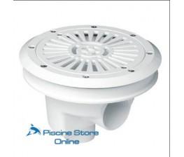 SCARICO DI FONDO CIRCOLARE DIAMETRO 200 mm CON GRIGLIA PIATTA PER PISCINE CON LINER E PREFABBRICATE