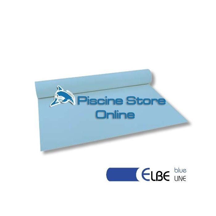 RIVESTIMENTO PVC PISCINA ELBE BLU LINE 1,5 mm H 1,65 MT. AZZURRO