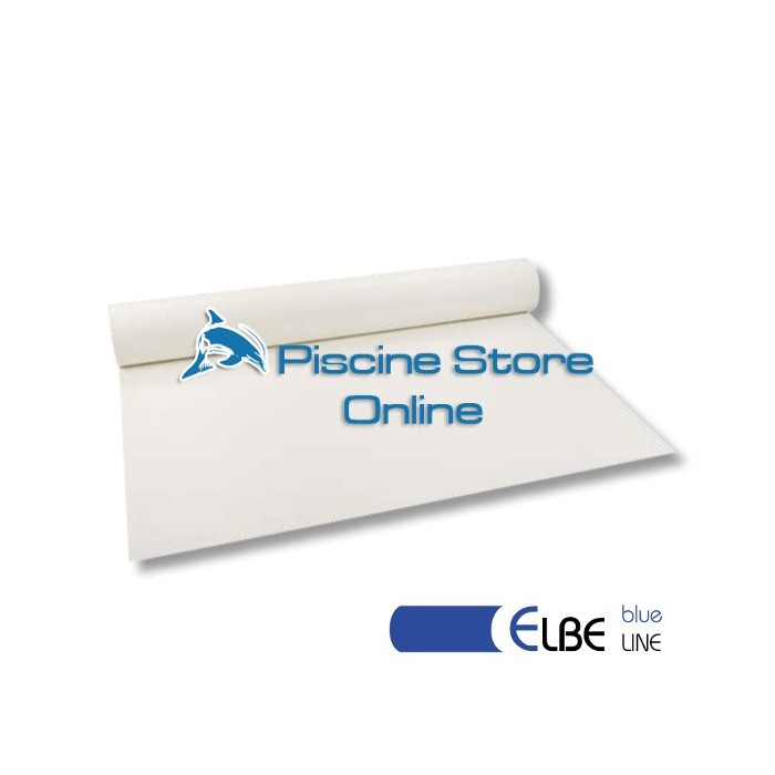 RIVESTIMENTO PVC PISCINA ELBE BLU LINE 1,5 mm H 1,65 MT. BIANCO
