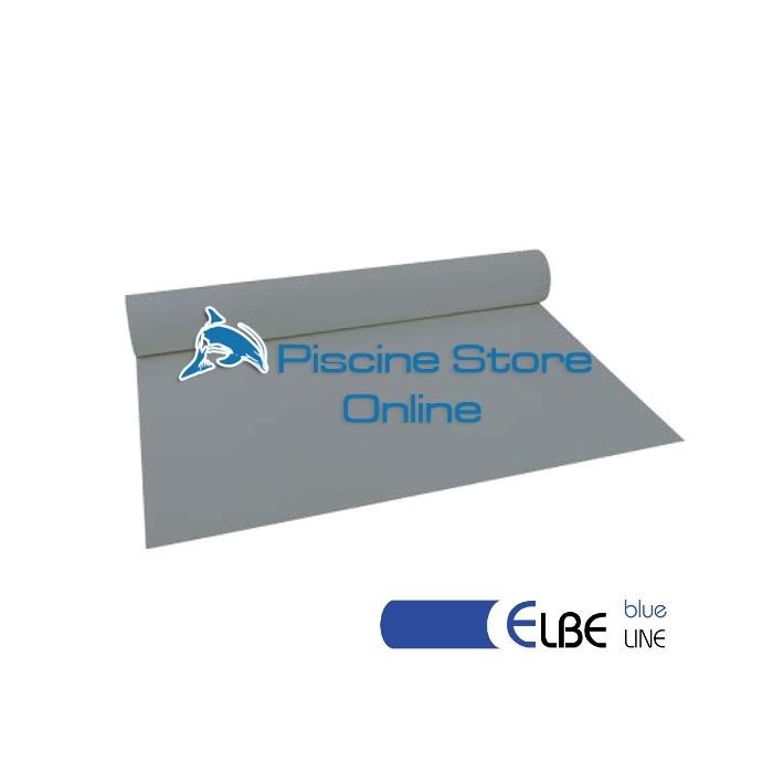 RIVESTIMENTO PVC PISCINA ELBE BLU LINE 1,5 mm H 1,65 MT. GRIGIO PERLA