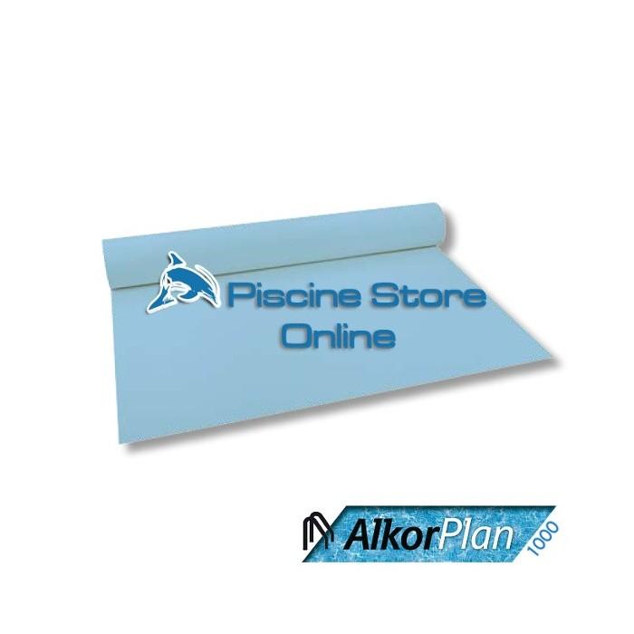 RIVESTIMENTO PVC PISCINA ALKORPLAN 1000 1,5 mm H 1,65 MT. AZZURRO