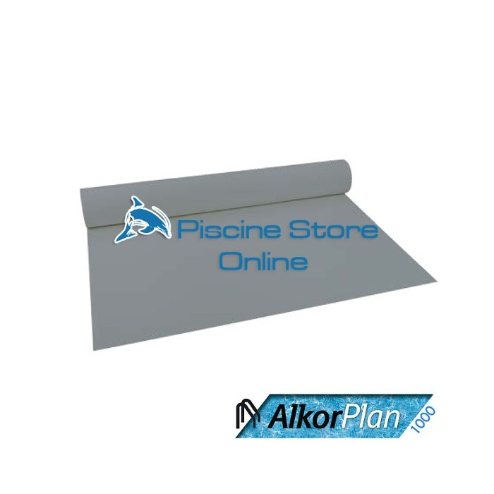 RIVESTIMENTO PVC PISCINA ALKORPLAN 1000 1,5 mm H 1,65 MT. GRIGIO PERLA