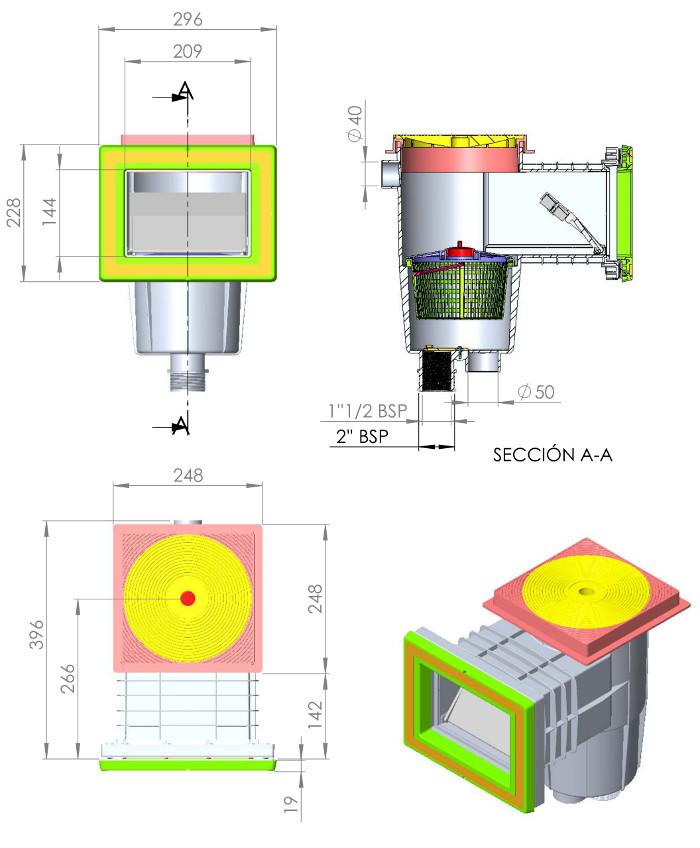 skimmer bocca standard liner 01462