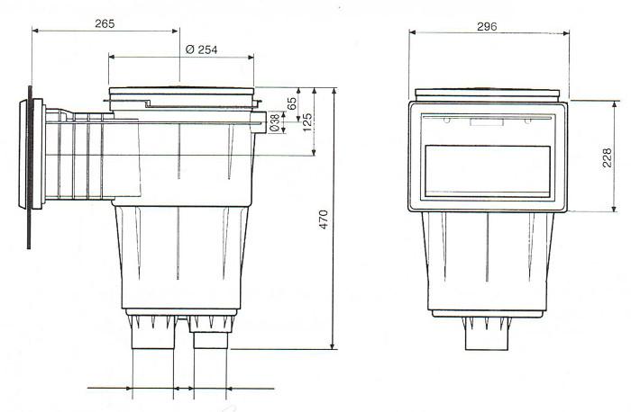 skimmer bocca standard 17, L 11309