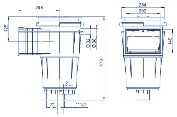skimmer con bocca standard 17.5 11306