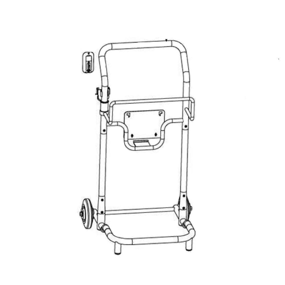 disegno carrello caddy 2x2