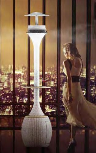 foto colonna luce arredo esterno