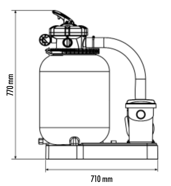 filtro monoblocco sabbia piscina