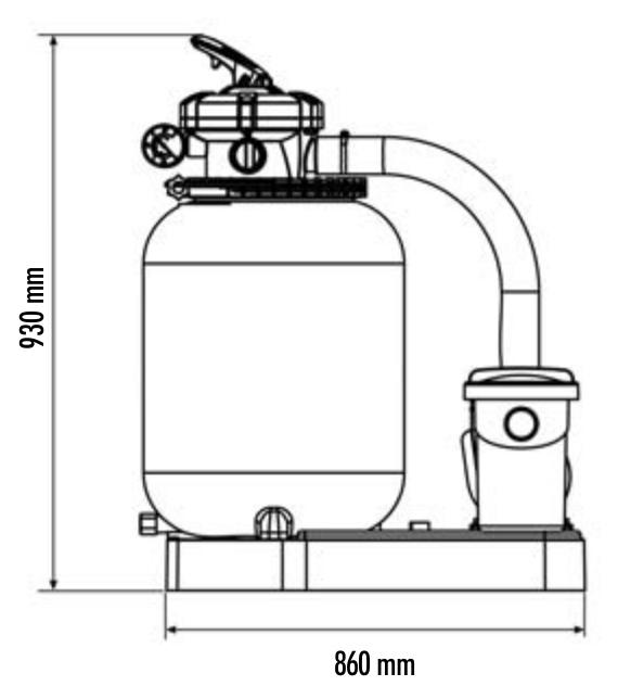 monoblocco filtro e pompa piscina fuori terra