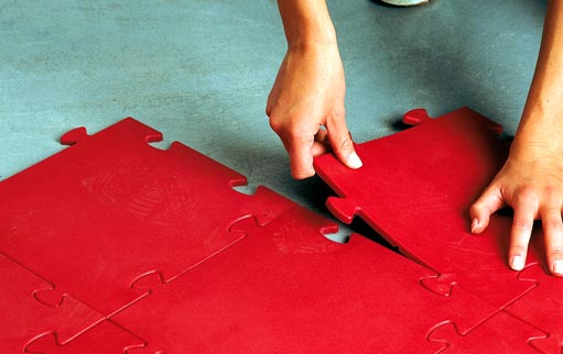 pavimento componibile per palestra a puzzle
